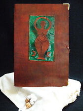 Mother Goddess Journal - Pagan Wicca A5 Handmade Leather Book-of-Shadows