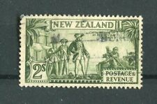 New Zealand KGV 1935-36 2s olive-green SG568 used