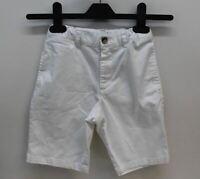 POLO RALPH LAUREN Boys White Cotton Blend Stretchy Waist Chino Shorts 7 Yrs.