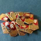 Drummer of Communist Labor Political Propaganda Lenin Soviet Pin Badge set 10 pc