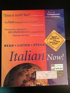 Learn Italian Now! Windows/Mac CD-Rom 2 Discs Italy tourist Europe