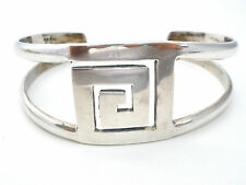 Mexican Sterling Silver Cuff Bracelet Vintage 1970's Boho Chic Jewelry Handmade
