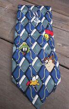 Men's Tie Looney Tunes Mania Character Tie Warner Bros. 1995 100% Silk Too Fun!
