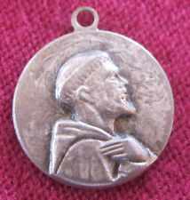Antique Catholic Religious Holy Medal - Saint Francis of Assisi / Saint Chiara