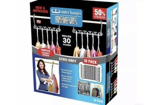 Wonder Hanger Max New & Improved, Pack of 10 – Triples Closet Space for Easy,