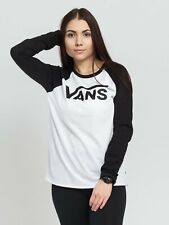 VANS Fliegend V Langarm T-Shirt Damen Weiß Sportbekleidung Sportkleidung Top