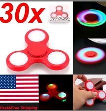 30 X LED HAND SPINNER TRI FIDGET TOY EDC FINGER LIGHT GYRO FOR KID WHOLESALE LOT