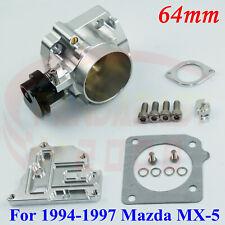"2.5"" 64mm Aluminum Throttle Body For 1994-1997 Mazda Miata MX-5 1.8L BP BP-ZE SS"