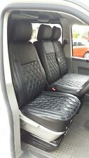 Volkswagen VW Transporter T5 Genuine Fit Van Seat Covers Black Diamonds