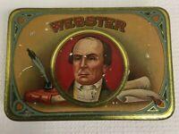 Vintage Daniel Webster Claro Cigar Tobacco Litho Advertising Tin Detroit, MI