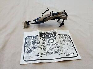 Vintage 1983 Kenner Star Wars Speeder Bike Vehicle w/ Instructions Return Jedi !