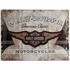 Vintage Style Retro Heavy Embossed Metal Plaque/Tin Sign-Harley Davidson Classic