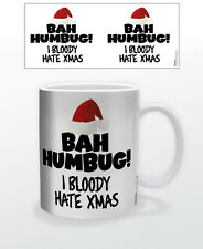 CHRISTMAS-BAH HAMBUG 11 OZ COFFEE MUG FUN PARTY HOLIDAY UK HATE XMAS FUNNY COOL!