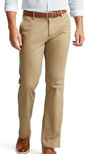 Dockers Mens Signature Khaki Pants Beige Size 36X30 Straight Fit Stretch $62 077