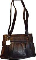 New woman's leather tote bag Black handbag, shopping bag day bag Pocketbook BNWT
