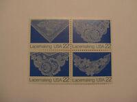 United States Scott 2351-2354 Lacemaking block