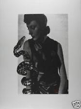 VALIE EXPORT: Frau mit Schlange, 2005/1989 Siebdruck