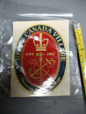 UPPER CANADA VILLAGE EMBLEM  DECAL  -CANADA DECALOMANIA CO. TORONTO-