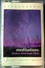 Meditations: Native American Flute (Cassette,  2000, Compass Lifescapes) NEW