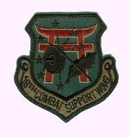 USAF PATCH - 18th COMBAT SUPPORT WING SUBDUED SHIELD STYLE:az11-2