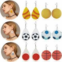 Women Boho Leather Butterfly Leaf Earrings Hook Drop Dangle Jewelry Gift