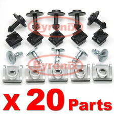 AUDI ENGINE UNDER COVER UNDERTRAY CLIPS UNDERBODY PANEL SHIELD REPAIR KIT SET