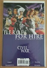Marvel Comic Book....Heroes for Hire: Civil War #1, 2006, Excellent Condition