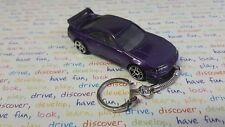 Diecast Nissan Skyline GTR GT-R ( R33 ) Purple Toy Car Keyring / Keychain