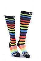 NEW Nurses Socks Frisky Feet Rainbow Compression Nurse Apparel Scrubs Fun Funky