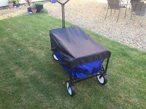 Pull-Along Folding Hand Cart Garden Wagon Trolley Festival Camping Beach Cart