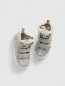 Baby Gap NWT Silver Glitter Unicorn Hi-Top Sneakers Tennis Shoes Toddler 7 $50