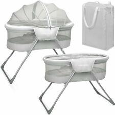 Baby Beistellbett Reisebett Babybett komplett mit Insektenschutz Tasche grau Neu