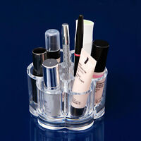 6Hole Clear Round Cosmetic Storage Display Rack Lipstick StandCase Makeup Holder