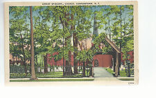 Christ Episcopal Church   Cooperstown NY   Mailed 1943   Postcard 744