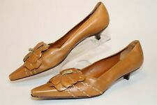 Celine Womens Size 7.5 37.5 Leather Kitten Heel Snip Toe Italy Made Pumps Shoes