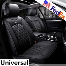 Universal 5-Seats PU Leather Full Car Seat Cover Cushion Breathable Rhombus USA