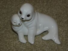 More details for royal osborne bone china mother & baby seal figurine