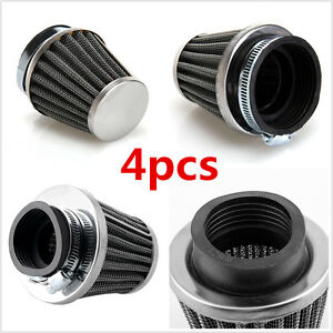 4 x50mm Universal Motorcycle Air Filter Pod For Honda Suzuki Kawasaki Yamaha