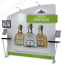 10ft Portable Trade Show Displays Pop Up Stand Booth Exhibit With Tv Bracket
