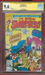 Slapstick 1 CGC 9.6 SS Stan Lee Sign Terry Austin cover Marvel new Deadpool no 8