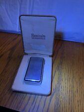 Vintage Parker Flaminaire Lighter Ostrich Leather Case Box 200 Used Not Filled
