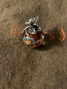 James Avery Retired Dragonfly Glass Bead Finial Charm Sterling Silver NIB
