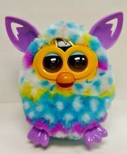 Rare Furby Boom 2012 Hasbro Pastel Blue Purple Yellow White Tested & Works Great