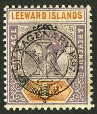 Leeward Islands  1897  Scott # 12  Mint Lightly Hinged