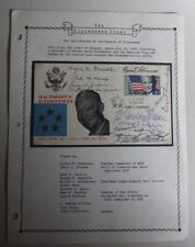 SIGNED First Day Cover by Pall-Bearers at Eisenhower's Funeral, Gen Omar Bradley