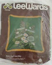 """Vintage Lee Wards Embroidery Kit Queen Anne'S Lace Unopened 17"""" Pillow, Sealed"""