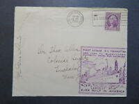 US 1932 SS Manhattan Maiden Voyage Cover w/ Letter Inside / Cpt Signed - Z7957