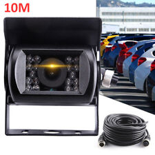 12V-24V 4Pin Bus Truck Heavy Duty Waterpoof IR Night Reversing Camera+10M Cable
