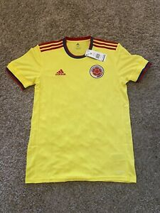 Adidas Mens Colombia Home Stadium Jersey Bright Yellow FT1475 Men's Size M