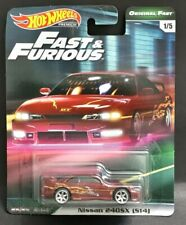 Hot Wheels Premium Fast And Furious Original Fast.Nissan 240SX S14 + 1Gift🎁